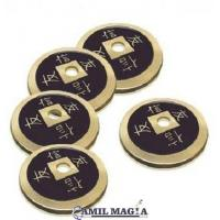 Set 4+1 Moneda China Bronce Tamaño 1 Dolar (Eisenhower) por Camil Magia