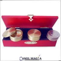 Set Caja Boston Con Retención, Macizo y 5 Monedas de Medio Dolar (Incluye Caja de Madera) por Camil Magia