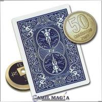 Lethal Tender Moneda China/ 50c (Naipe Bicycle) por Camil Magia