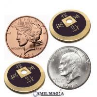 Transposición Cobre, Plata y Bronce 1 Dolar por Camil Magia
