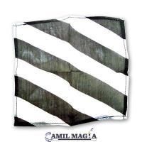 Pañuelo Zebra Blanco y Negro 38 cm