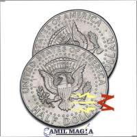 Cascarilla Expandida Magnetizable (Lado Águila) Medio Dolar por Camil Magia