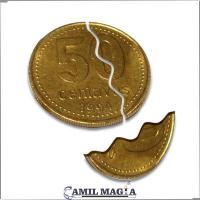 Moneda Mordida Sistema Interno 50c por Camil Magia