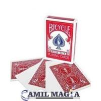 Cards Whiteface Dorso Red Bicycle