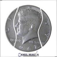 Moneda Plegable Medio Dolar Sistema Interno por Camil Magia