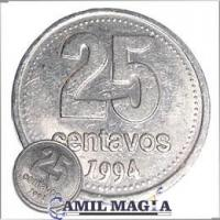 Moneda Jumbo 25c